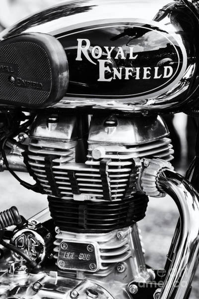 Bullets Photograph - Royal Enfield Bullet 500 Monochrome by Tim Gainey