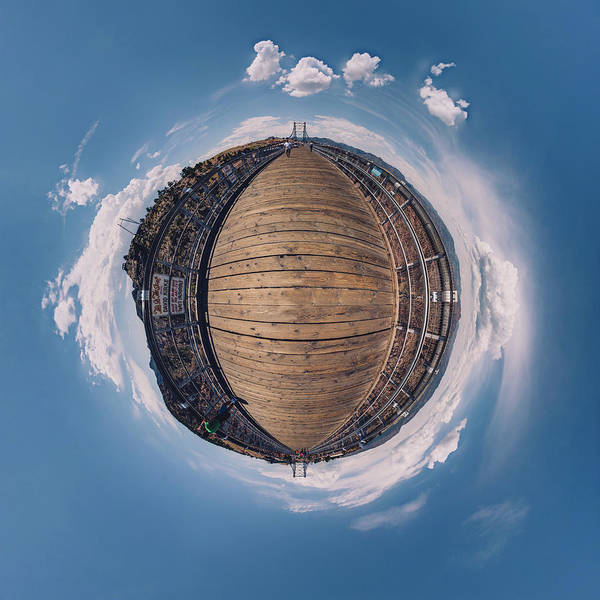 Photograph - Royal Gorge Bridge Tiny Planet by Chris Bordeleau