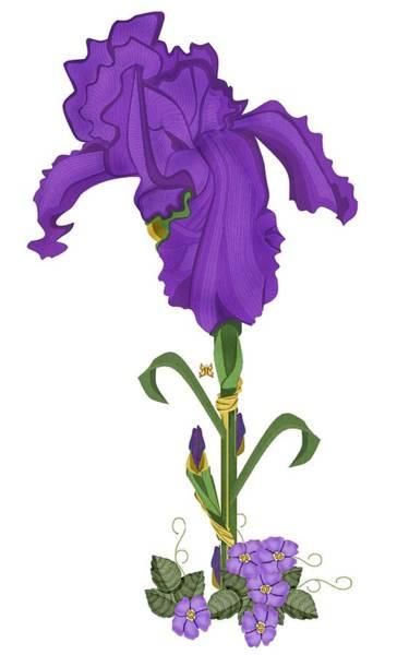 Wall Art - Painting - Royal Iris II by Anne Norskog