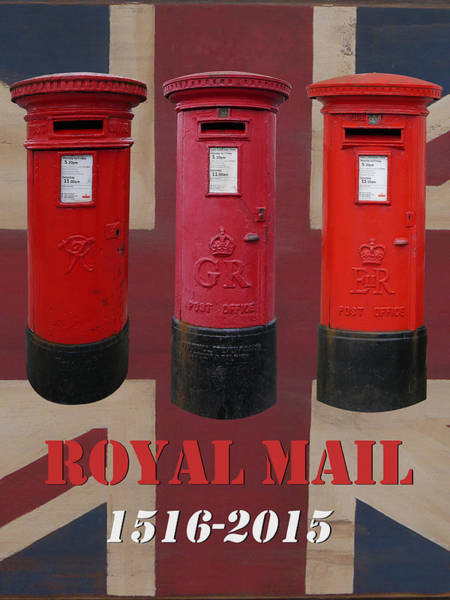 Photograph - Royal Mail Pillar Boxes by Richard Reeve