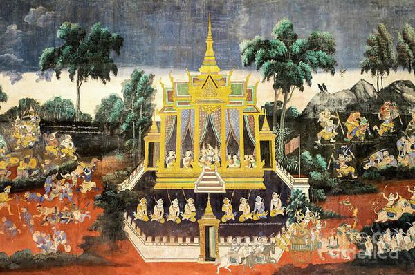 Phnom Penh Wall Art - Photograph - Royal Palace Ramayana 10 by Rick Piper Photography