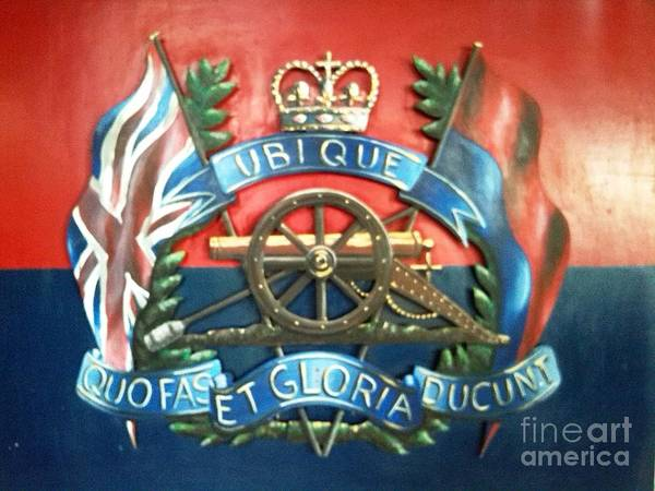 Wall Art - Painting - Royal Regiment Of Artillrty by Richard John Holden RA