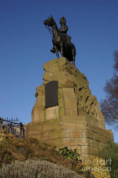 Photograph - Royal Scots Grey Statue In Edinburgh by David Birchall
