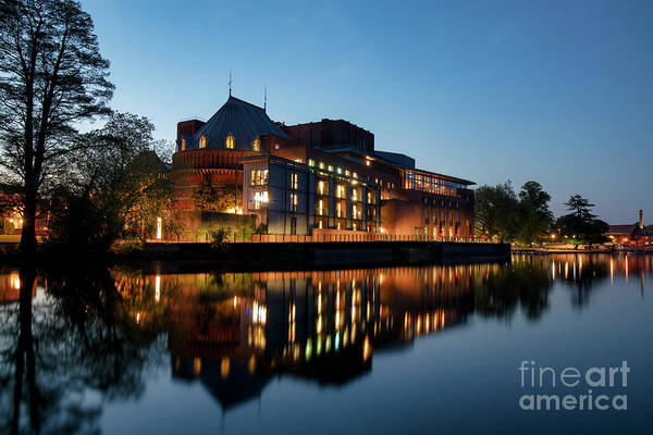 Warwickshire Photograph - Royal Shakespeare Theatre Stratford Upon Avon At Dusk by Tim Gainey