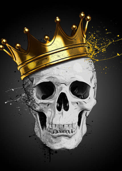 Skulls Wall Art - Digital Art - Royal Skull by Nicklas Gustafsson