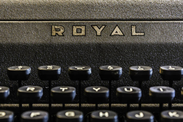 Photograph - Royal Typewriter #1 by Chris Coffee