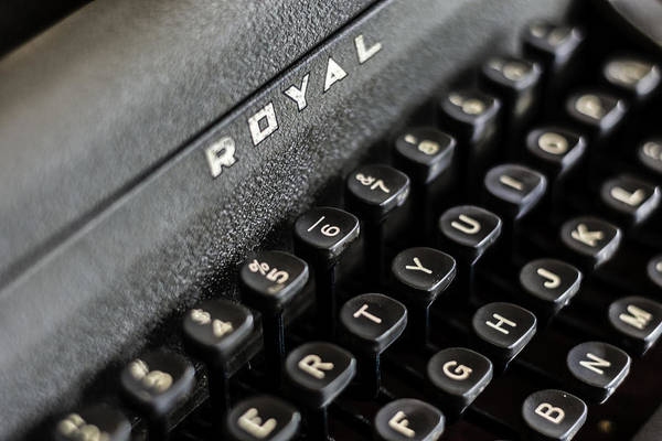 Photograph - Royal Typewriter #17 by Chris Coffee