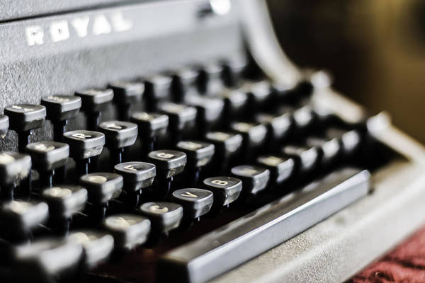 Photograph - Royal Typewriter #18 by Chris Coffee