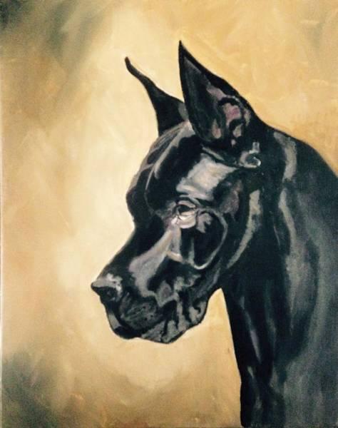 Black Great Dane Painting - Royal by Wildhorse Studio