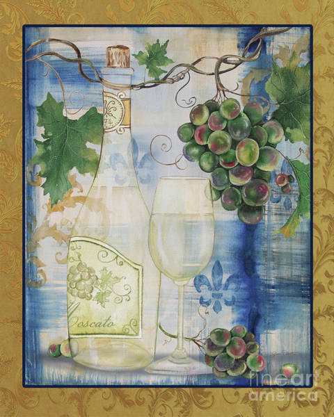 Booze Wall Art - Painting - Royal Wine-c by Jean Plout