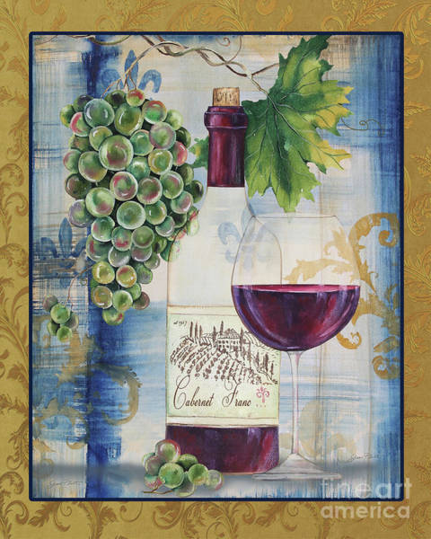 Booze Wall Art - Painting - Royal Wine-d by Jean Plout