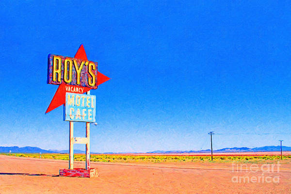 Photograph - Roys Motel And Cafe by Wingsdomain Art and Photography