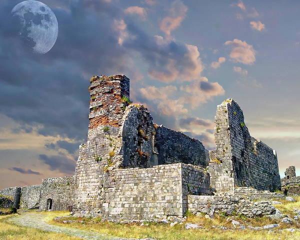 Photograph - Rozafa Castle Scenic by Anthony Dezenzio