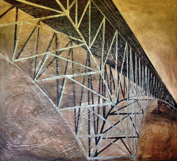 Scaffold Painting - Rte 20 Bridge Russell Ma by Michelle Iglesias