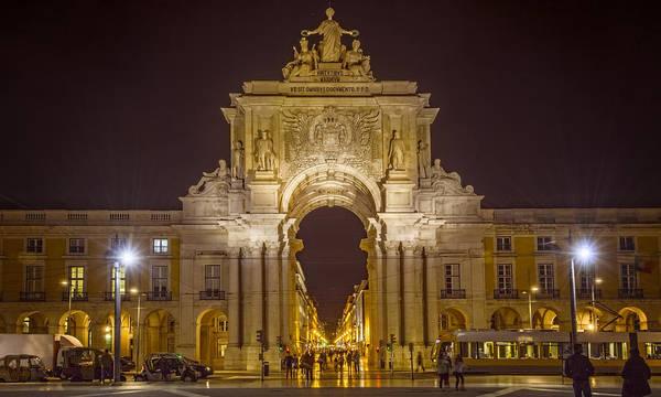 Photograph - Rua Agusta Arch Lisbon by Joan Carroll