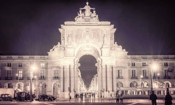 Photograph - Rua Agusta Arch Lisbon Textured IIi by Joan Carroll