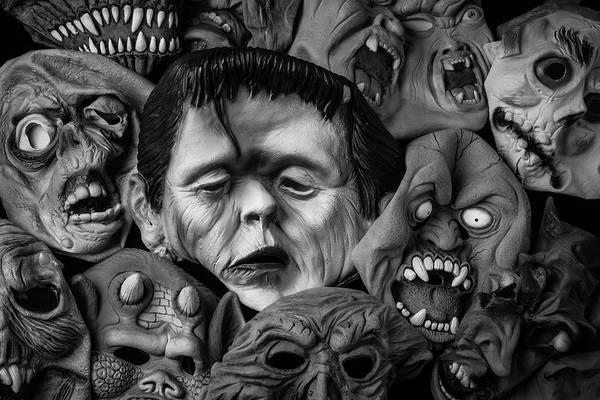 Wall Art - Photograph - Rubber Halloween Masks by Garry Gay