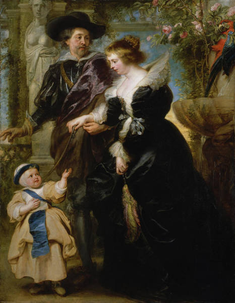 Painting - Rubens His Wife Helena Fourment And Their Son Frans by Peter Paul Rubens