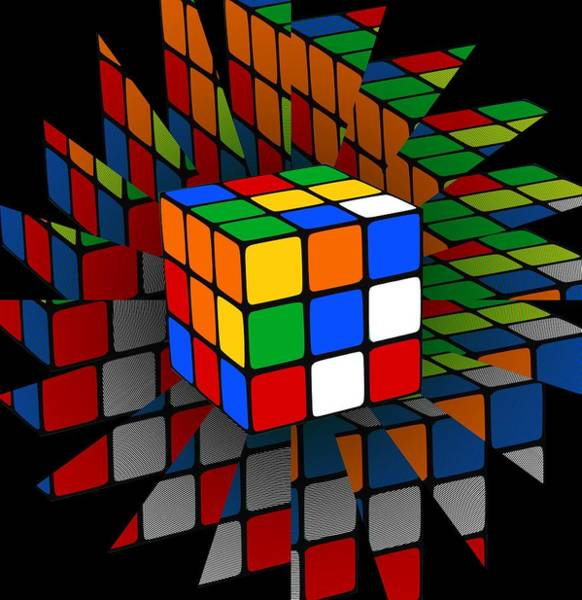 Wall Art - Digital Art - Rubik's Cube by Chris Butler