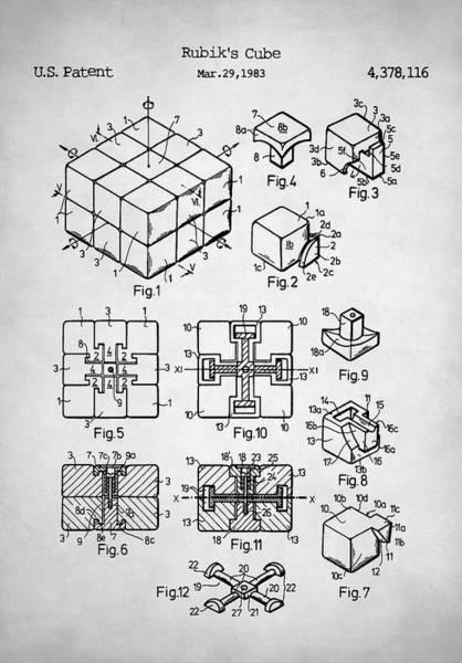 Big Bang Digital Art - Rubik's Cube Patent by Zapista Zapista