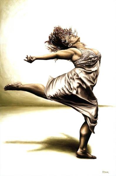 Wall Art - Painting - Rubinesque Dancer by Richard Young