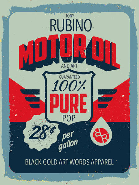 Painting - Rubino Motor Oil 2 by Tony Rubino