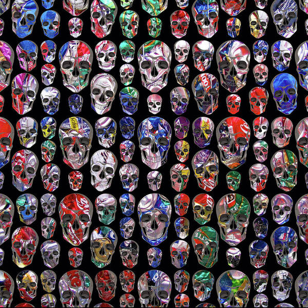 Wall Art - Painting - Rubino Skull Trash by Tony Rubino