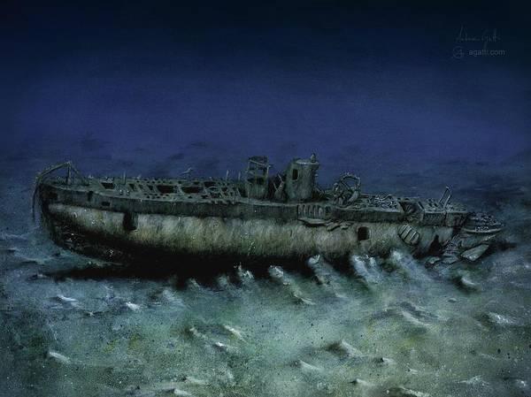 Shipwreck Digital Art - Rubis by Andrea Gatti