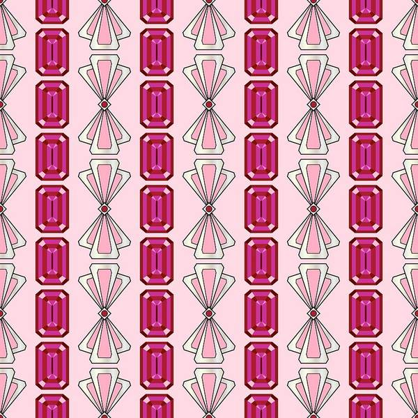Digital Art - Ruby  Deco Stripe by MM Anderson