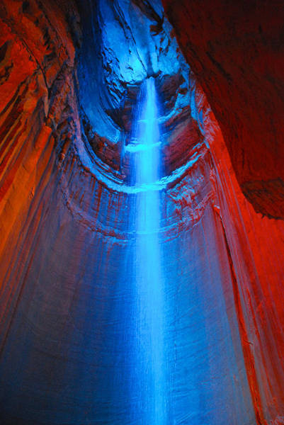 Photograph - Ruby Falls Waterfall 3 by Mark Dodd