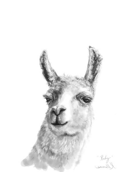 Llama Drawing - Ruby by K Llamas