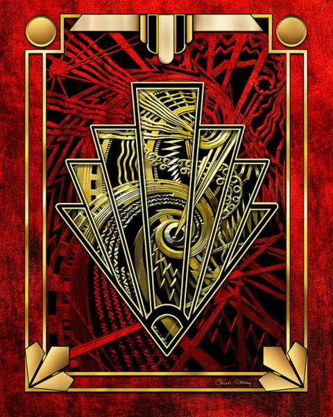 Digital Art - Ruby Red And Gold by Chuck Staley