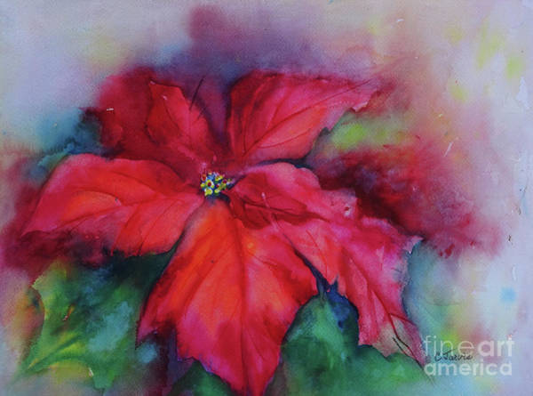 Painting - Ruby Red Poinsettia by Carolyn Jarvis