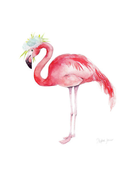 Flamingo Flower Wall Art - Painting - Ruby Rose by Stephie Jones
