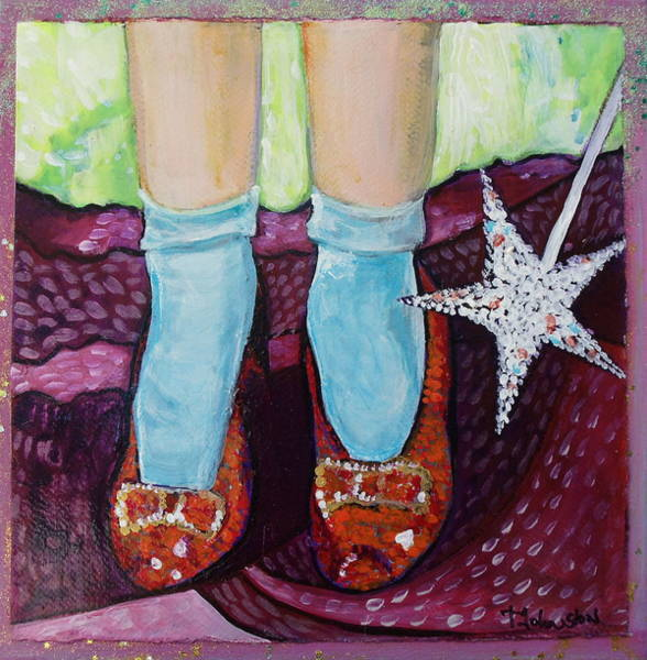 Ruby Wall Art - Painting - Ruby Slippers by Tanya Johnston