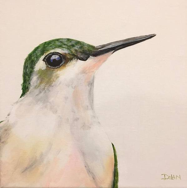 Painting - Ruby Throated Hummingbird by Pat Dolan