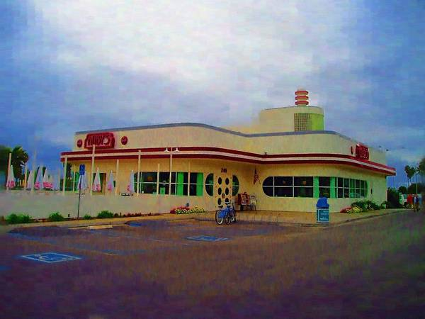 Wall Art - Photograph - Ruby's Art Deco Diner by Eve Paludan