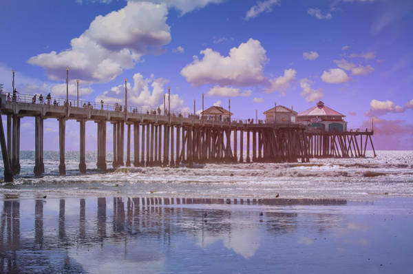 Photograph - Ruby's On The Huntington Pier by Lynn Bauer