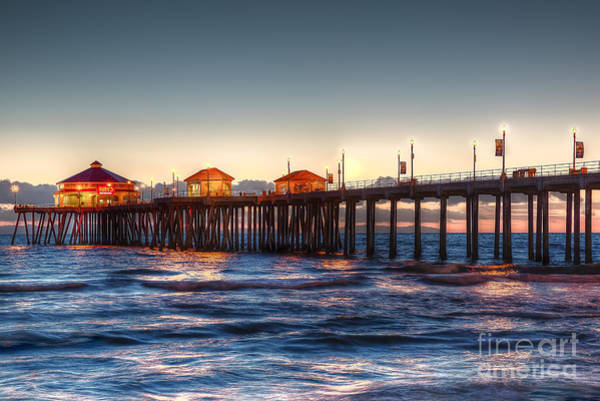 Wall Art - Photograph - Ruby's Surf City Diner At Twilight - Huntington Beach Pier by Jim Carrell