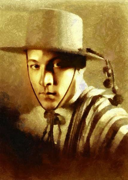 Digital Art - Rudolph Valentino As The Gaucho by Charmaine Zoe