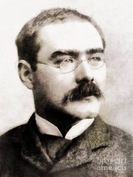 Poetry Painting - Rudyard Kipling, Literary Legend by John Springfield