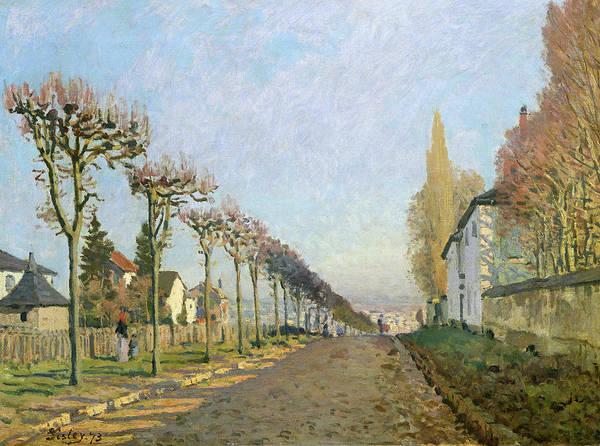Street Machine Wall Art - Painting - Rue De La Machine Louveciennes by Alfred Sisley