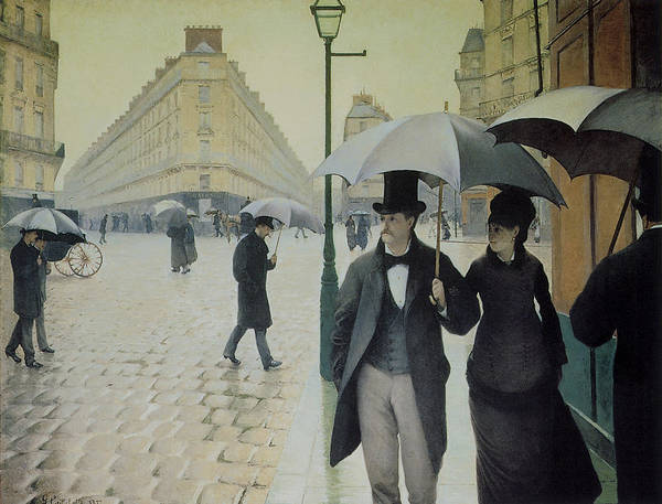 Painting - Rue De Paris Wet Weather by Gustave Caillebotte