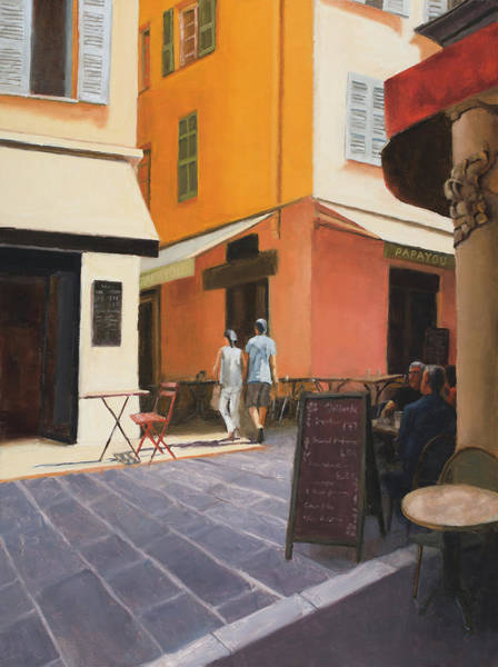 Wall Art - Painting - Rue En Nice by Tate Hamilton