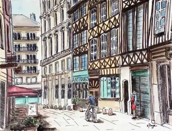 Painting - Rue Malpalu, Rouen, France II by Emily Page