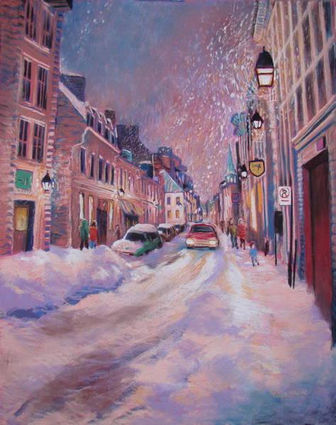 Wall Art - Painting - Rue St. Paul En Hiver by Rose Wark