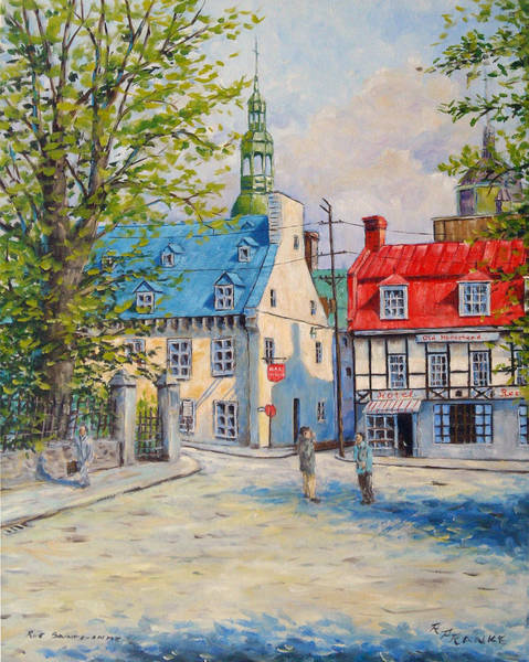 Quebec Painting - Rue Ste Anne 1965 by Richard T Pranke