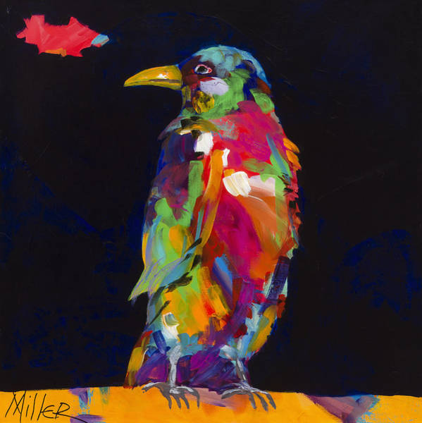 Ravens Painting - Ruffled Feathers by Tracy Miller