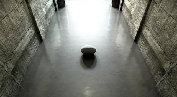 Destiny Digital Art - Rugby Ball Sports Stadium Tunnel by Allan Swart