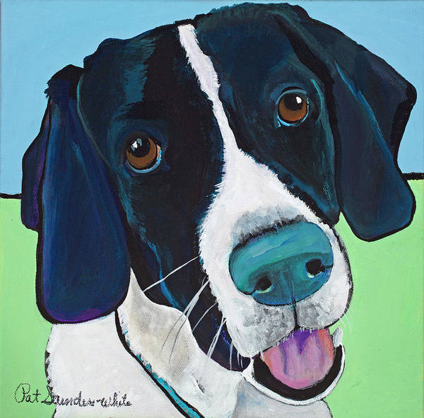 Painting - Ruger by Pat Saunders-White